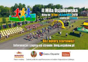 Plakat II Mili Osjakowskiej - biegu na 10 km
